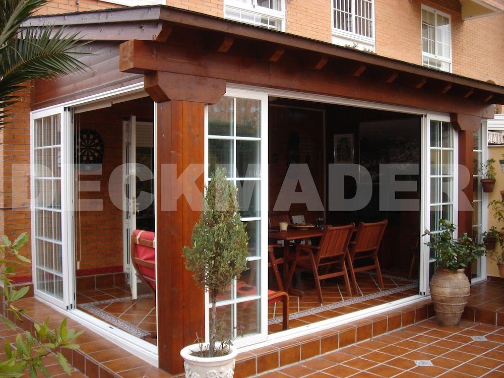 Cerramiento casa prefabricada estilo Rustico, piedra de