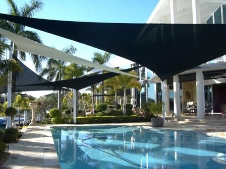 Swimming Pool Shade Ideas luxury pergolas over pool Sail Shade Over Pool Awesome