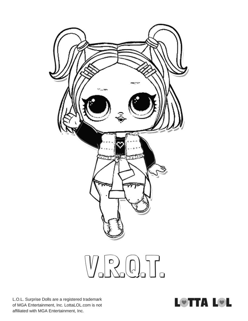 V R Q T Coloring Page Lotta Lol Disney Coloring Pages Coloring Pages Lol Dolls