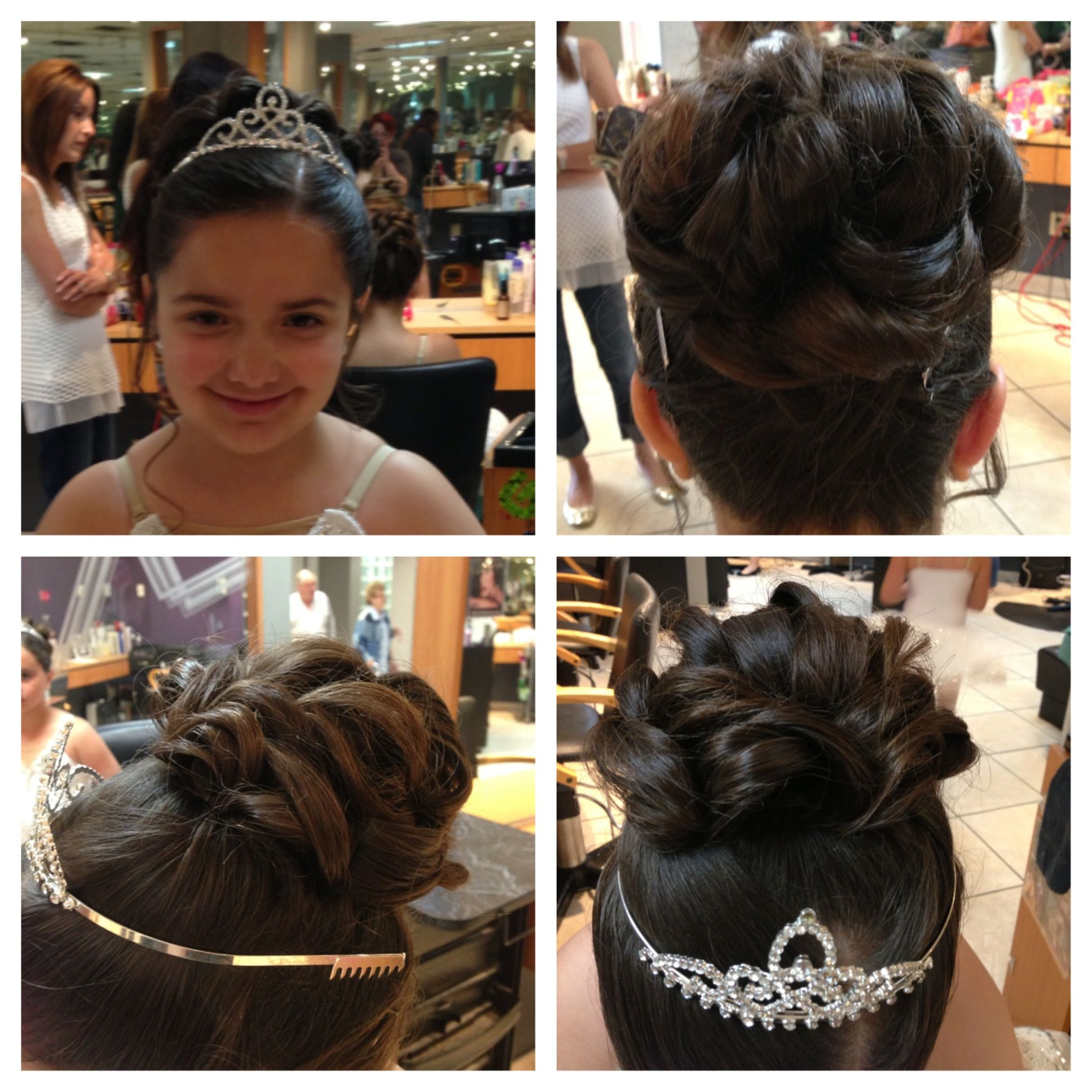 communion updo, curly bun | hair by maia | curly bun, hair