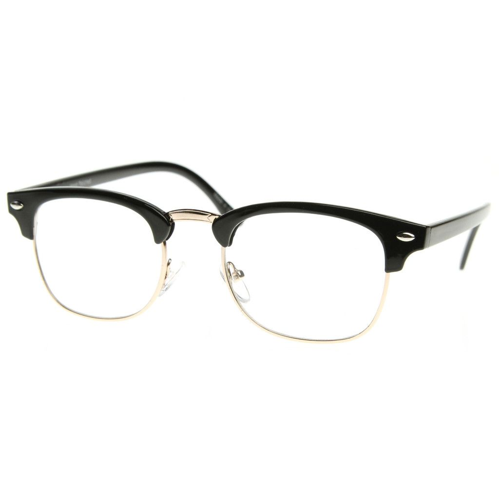 New Mens Half Horn Rim Hipster Sunglasses With Night Driving Lens Sunglasses