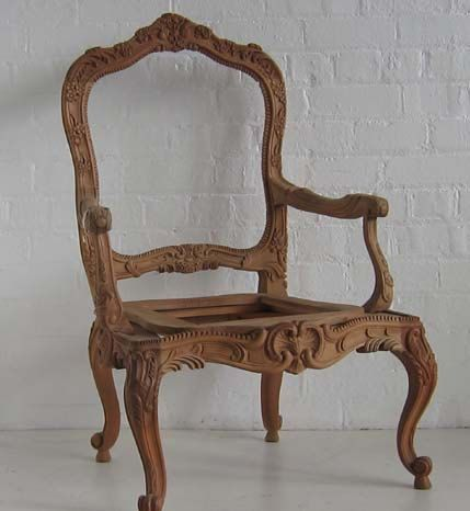 Items Similar To Stripe French Chair With Flair. On Etsy