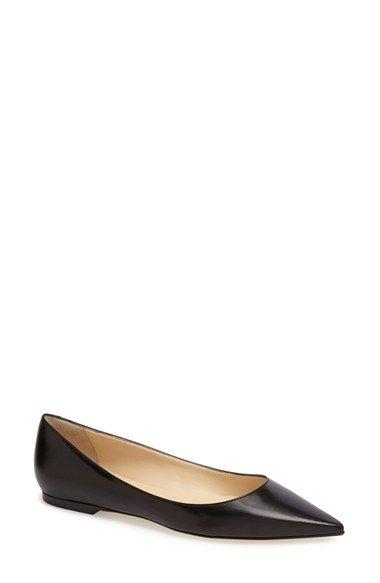 eb75e32e954 Jimmy Choo  Alina  Pointy Toe Leather Flat (Women)