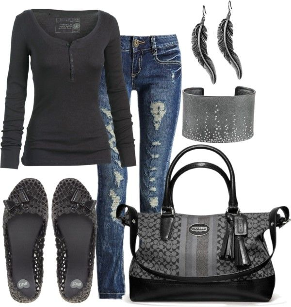 """""""~Destroyed yet Chic~"""" by mels777 on Polyvore"""