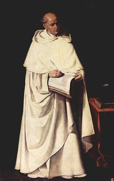 Zurbaran, Fray Francisco Zumel, one of the most famous Thomist philosophers of the 16th century and professor of the Unversity of Salamanca and counsellor to Philip II.