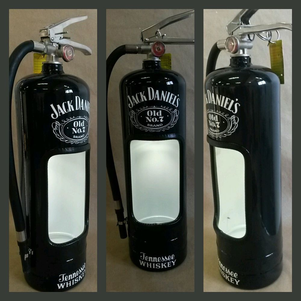 Jack daniels fire extinguisher alcohol display case. Man cave must ...