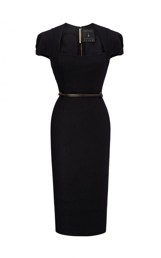 The Galaxy Dress in Black, by Roland Mouret. #rolandmouret  https://www.rolandmouret.com/signature/galaxy/black