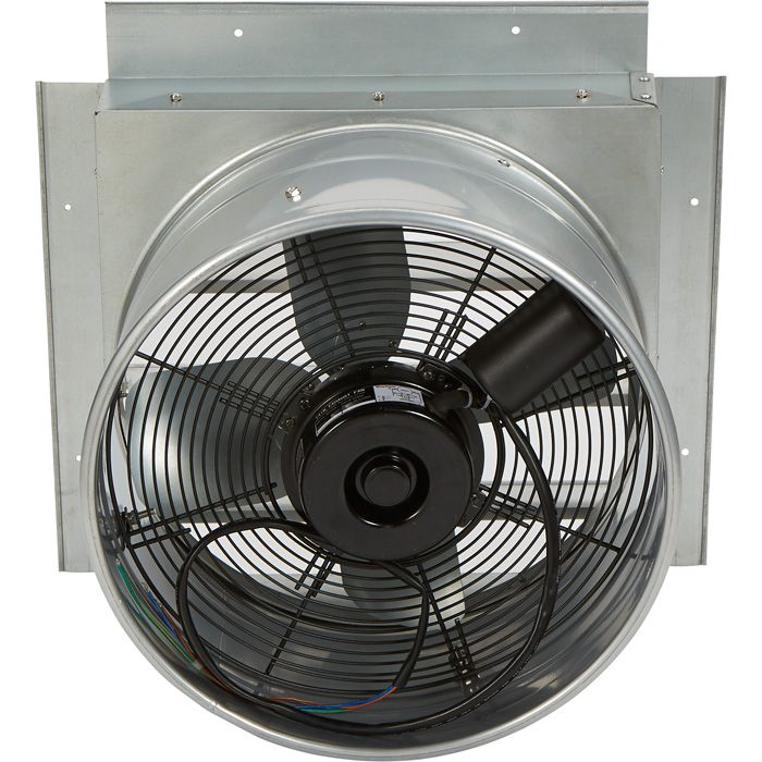 Strongway Heavy Duty Fully Enclosed Direct Drive Shutter Exhaust Fan 14in 1 400 Cfm 120 Volts 4 Blades Exhaust Fan Fan House Fan