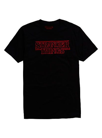 Stranger Things Logo Tranger Things Logo Black Shirts