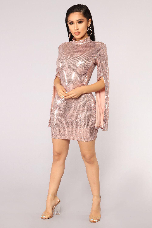 Precious Heirloom Sequin Dress Rose Gold Gold dress