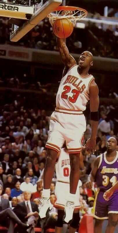 The GOAT Scores On A Dunk After Baseline Spinning Rookie Kobe Bryant In Chicago Jeffrey JordanJordan