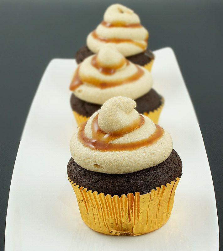 Caramel-Chocolate Cupcakes Recipe: Grace's Sweet Life