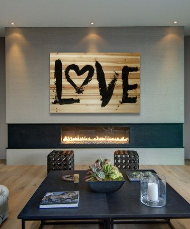 Loving this 'Love' Wood Wall Art on #zulily! #zulilyfinds