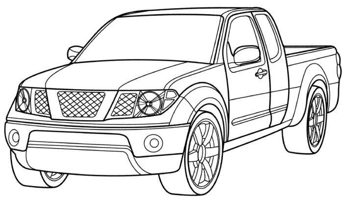 honda mini truck coloring page