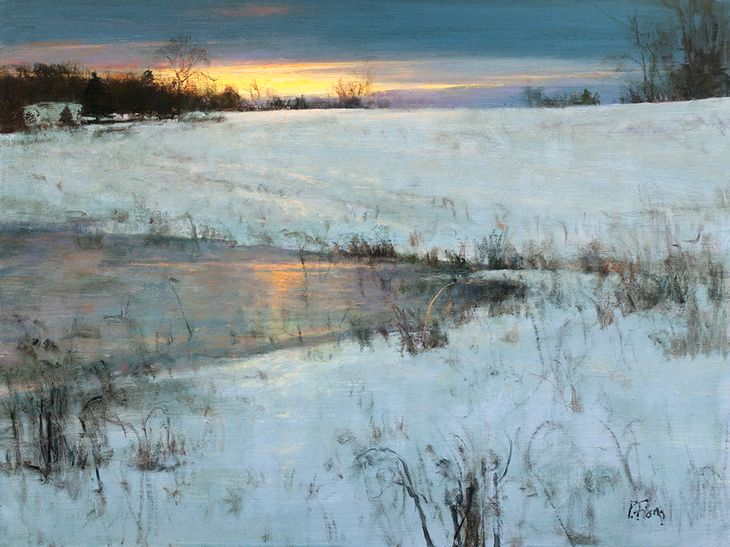 Peter Fiore Landscape Painting Winter Landscape Painting Landscape Art Landscape Paintings