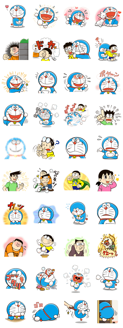 Doraemon's Many Emotions Sticker for LINE, WhatsApp, Telegram — Android, iPhone iOS
