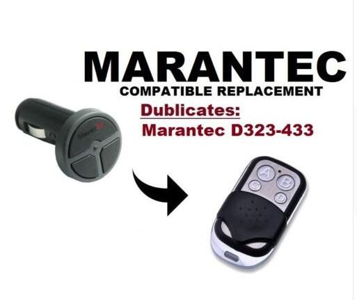Marantec Command 131 Garage Door Gate Remote Replacement Duplicator Remote Duplicator 433 92mhz Free Shipping With Images Gate Remote Garage Doors