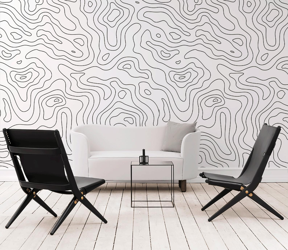 Removable Wallpaper Peel And Stick Wallpaper Wall Paper Etsy Removable Wallpaper White Wallpaper Black And White Wallpaper
