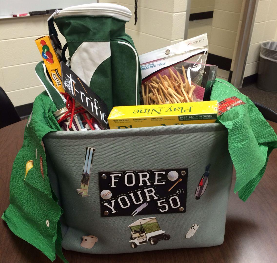 golf gift basket ideas