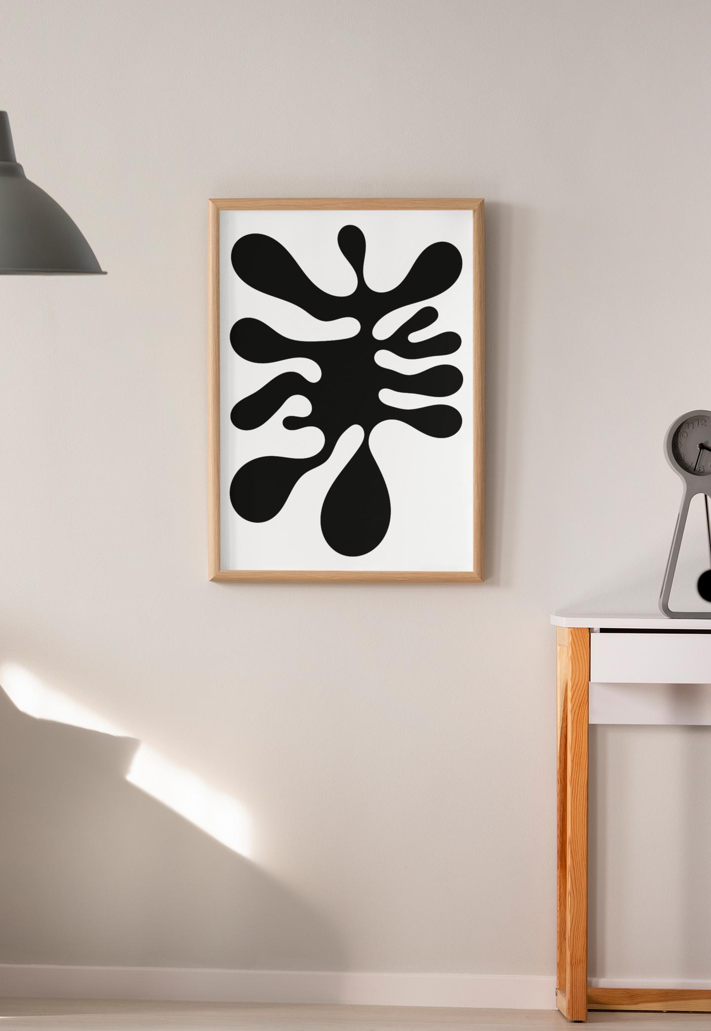 Abstract Wall Art Organic Shapes Nature Art Matisse Inspired Wall Decor Printable Art Art Print Downloadable Design Digital Download Abstract Wall Art Printable Art Nature Art
