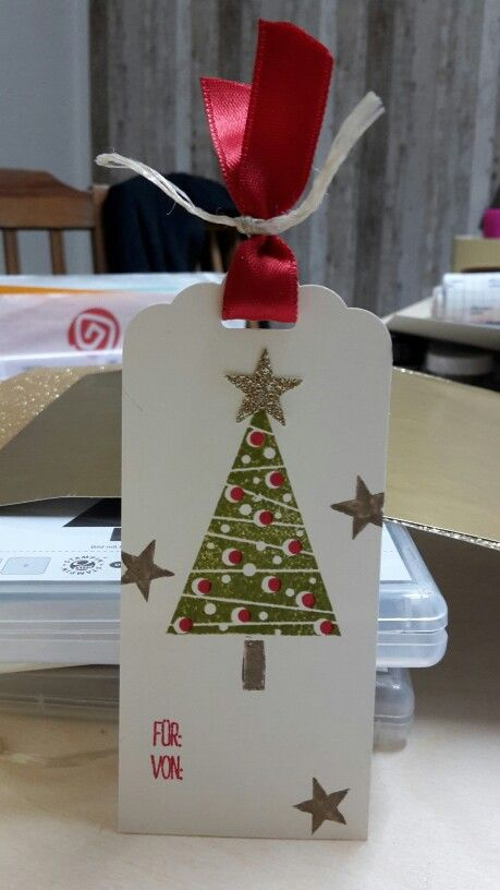 Gewellter Anhänger, stampin up, Festival of trees, Anhänger Weihnachten