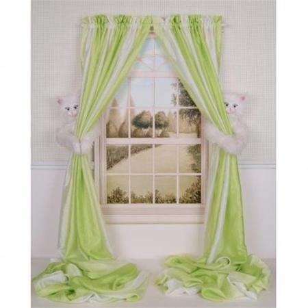 Curtain Critters ALWTKT031208SET Plush Best Friends Kitty Curtain Tieback Set- 2