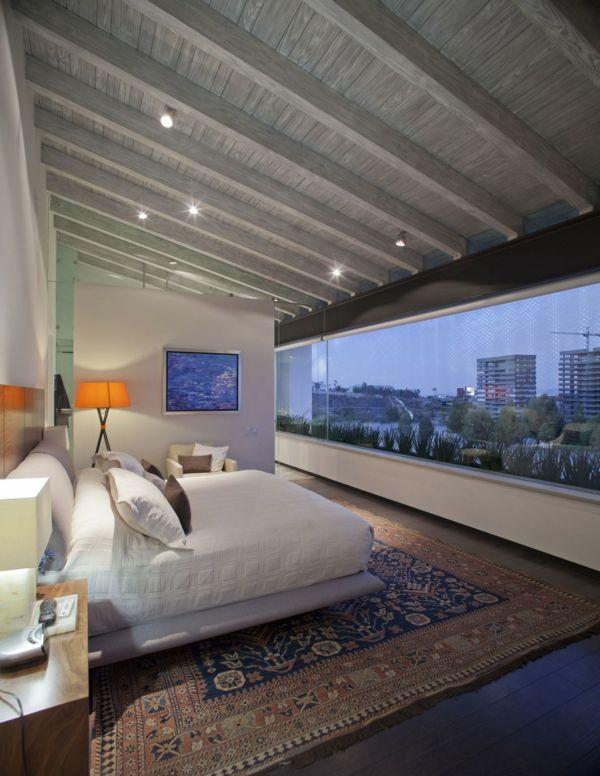 schlafzimmerideen deckenverkleidung holz anbringen - holz decke moderne einrichtung ideen