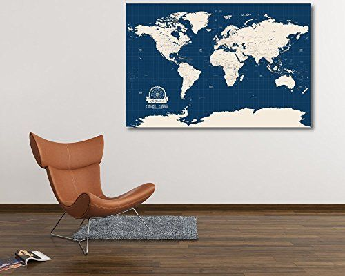 customized push pin travel map of the world a modern piece for your home or office this map of the world comes with your own personalized map legend to