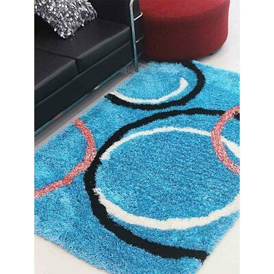 Latitude Run Predmore Hand-Tufted Blue Area Rug Rug Size Rectangle 6 x 9