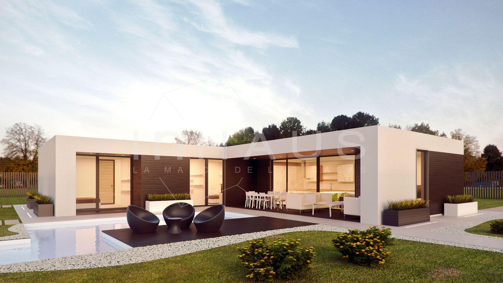 Casas prefabricadas minimalistas inhaus modelo motril - Planos casas modulares ...
