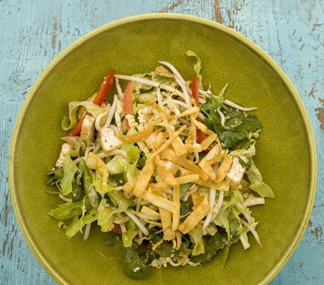 Chinese Tofu Salad- add your own asian dressing