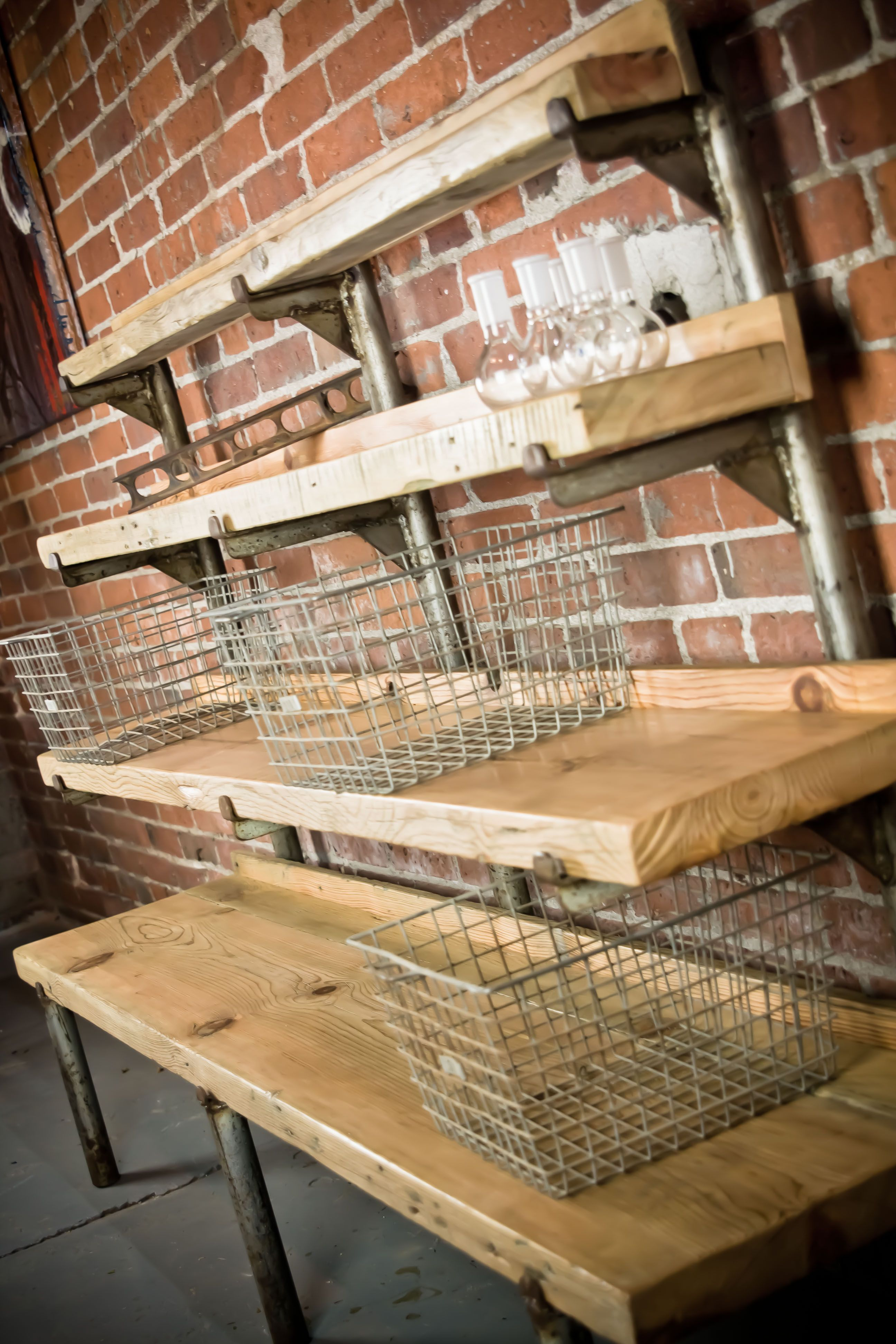 Tiered Display Shelf By Backcountry Steel Vintage
