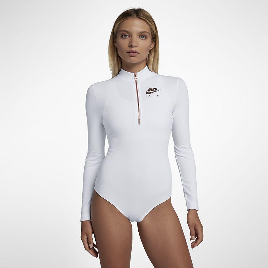 25c99352fa16a Nike Air Women's Long-Sleeve Bodysuit | Fitness | Workout bodysuit ...