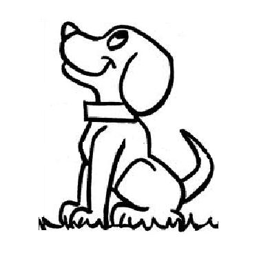 Dog Coloring Pages For Kids Preschool And Kindergarten Dog
