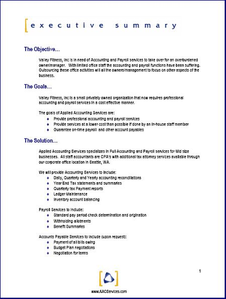 sample business proposal – Formal Business Proposal Format