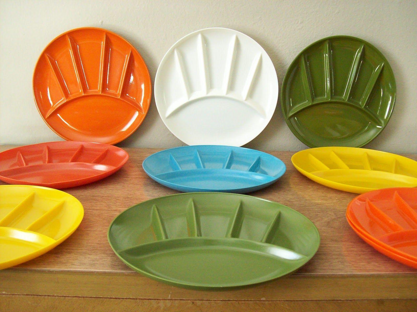 Melamine Picnic Plates In Fantastic Bright Colors