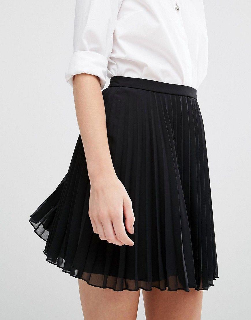 image 3 asos petite jupe courte pliss e wishlist pinterest asos petite mini skirts. Black Bedroom Furniture Sets. Home Design Ideas
