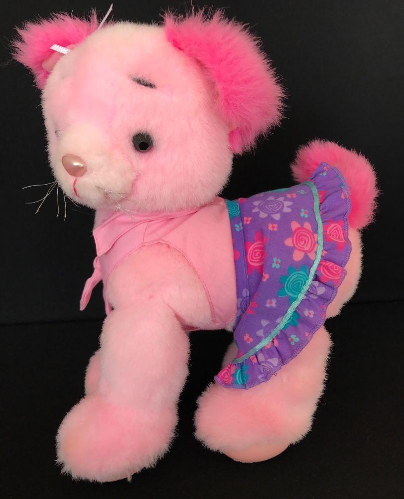 Barbie Doll Pink Cat Plush Fashion Talking Stuffed Animal Toy Mattel