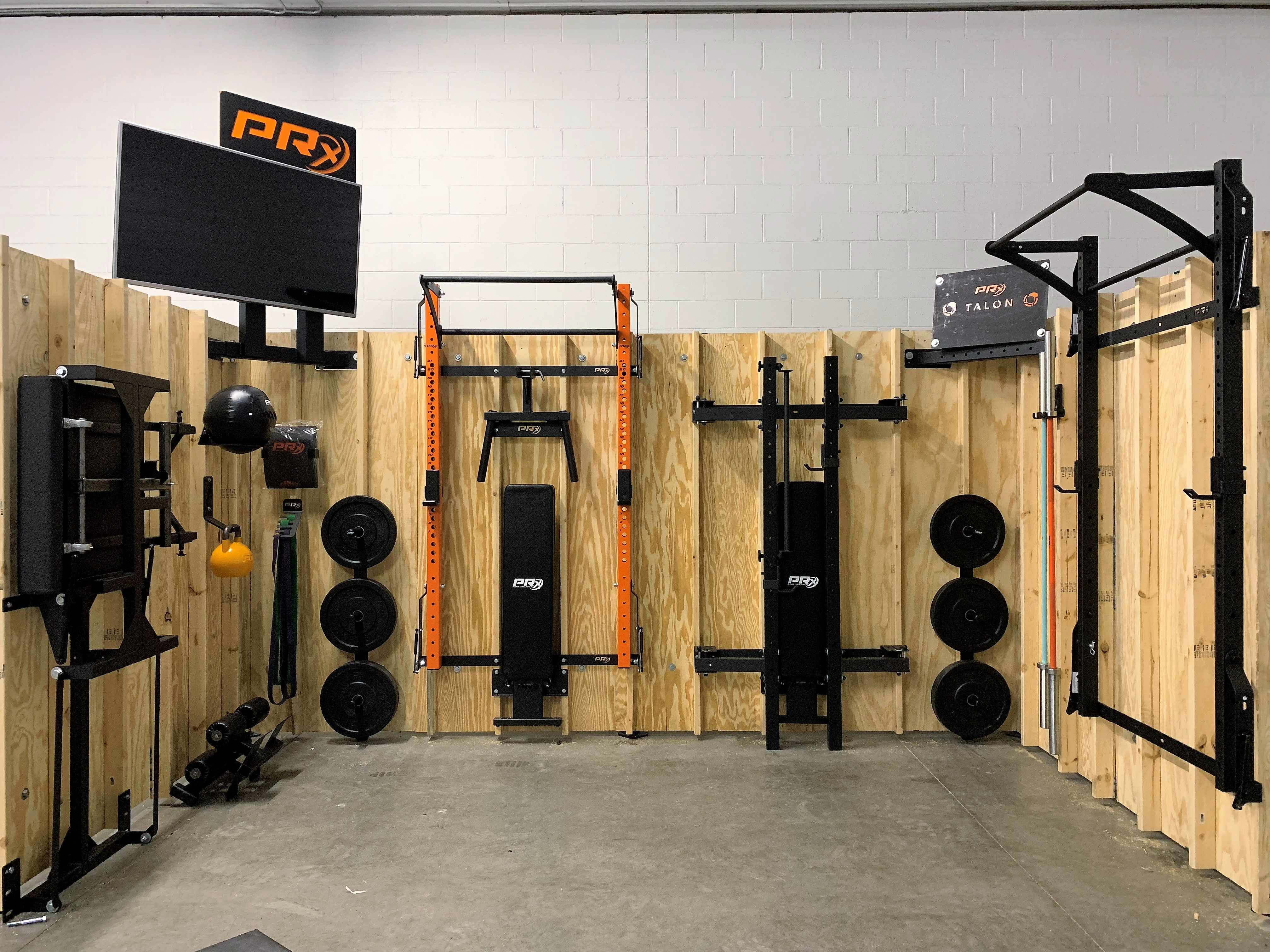 Ft ft space with squat racks benches a reverse hyper