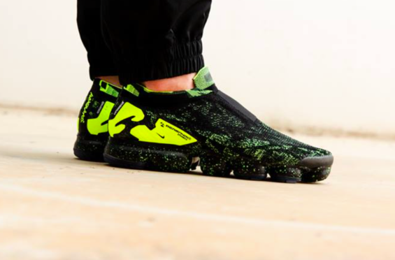 release date 5991d e9fc4 ACRONYM x Nike Air VaporMax Moc 2 Black Volt Is Now Available The ACRONYM x  Nike