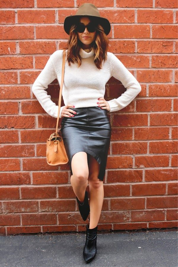 GIVEAWAY: win this leather skirt, click through, link is on the blog! #glassy10 #keepitglassy