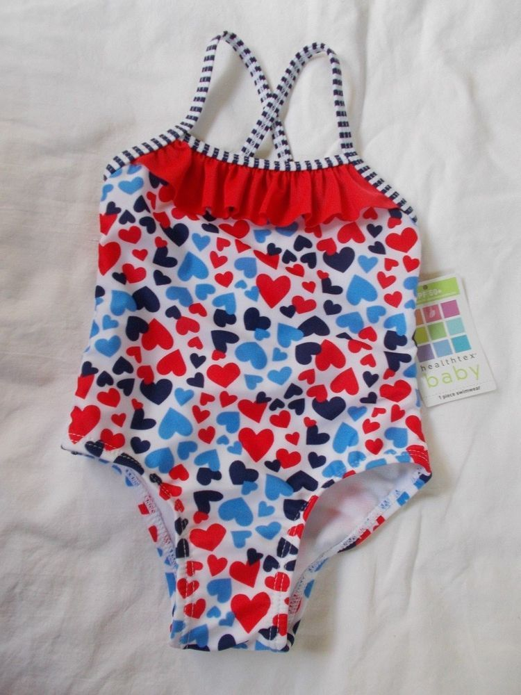 Healthtex Baby Girls Heart Print Swim Suit 12 Months Nwt Fashion Clothing Shoes Accessories Babytoddlercl Baby Girl Swimwear Printed Swim Swimwear Girls