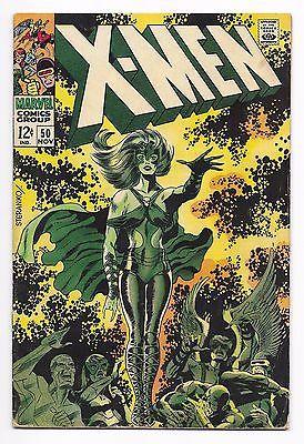 X Men 50 1968 Polaris Mesmero Jim Steranko Art Vg Vg No Reserve Jim Steranko Comic Book Artists Silver Age Comics