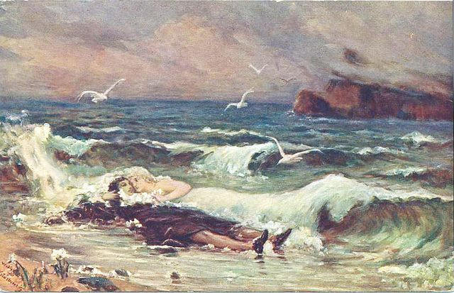 "Vasily Alexandrovich Kotarbinsky, (Russian,1849-1921), ""Kiss of the wave"" by sofi01, via Flickr"