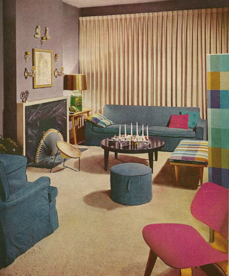 65 Cool Mid Century Living Room Decor Ideas: 1960s Decorating, Vintage Home Decor, 1960s Rooms