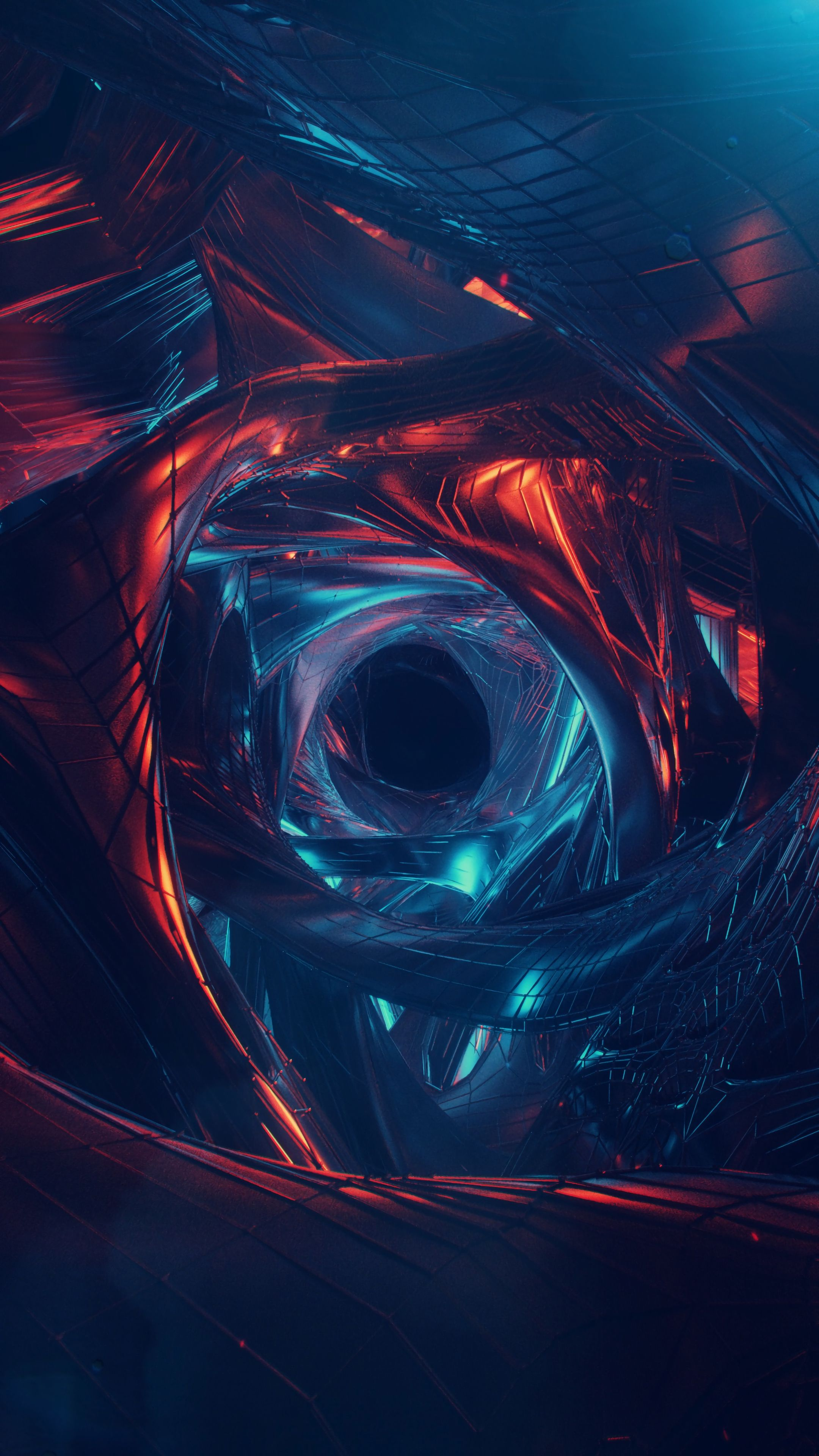 Abstract #wormhole #art #visualization #wallpapers hd 4k