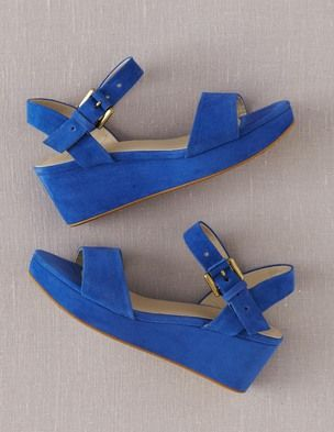 Suede Demi-Wedges Boden USA.