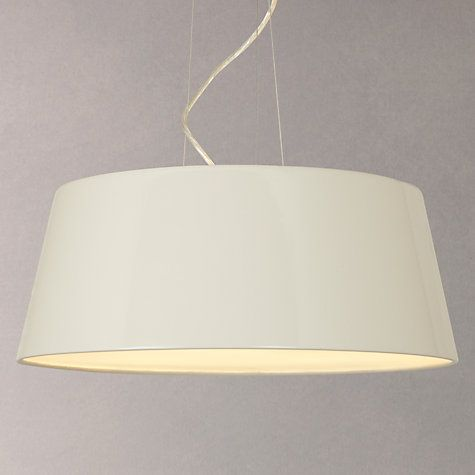 Buy John Lewis Nathaniel Pendant Ceiling Light Gloss Stone Online At Johnlewis