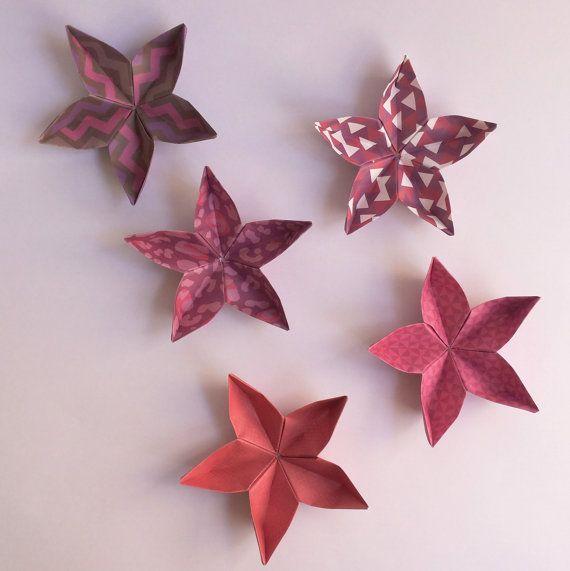 5 origami flowers in 5 different patterns jewelry box decoration 5 origami flowers in 5 different patterns jewelry by taniaorigami mightylinksfo