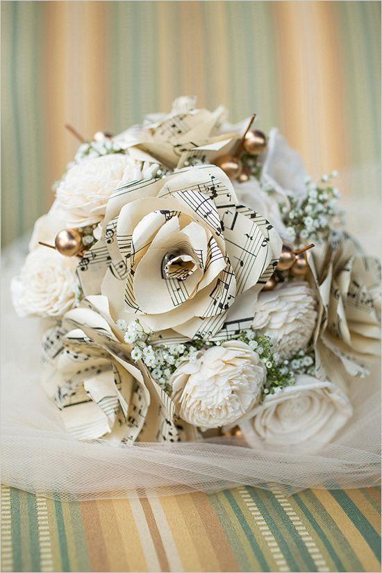 Music Loving New Orleans Wedding Paper Flowers WeddingPaper Flower BouquetsPaper